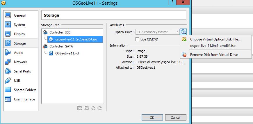 Using OSGeoLive with VirtualBox - BostonGIS