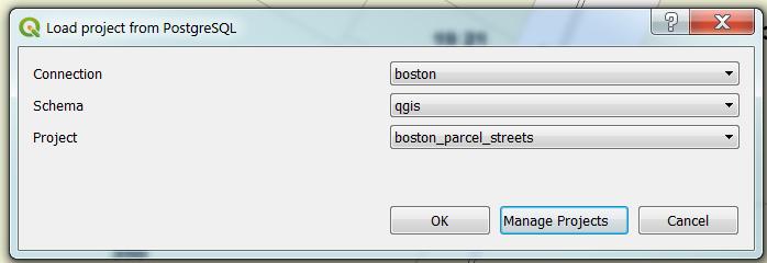 New in QGIS 3 2 Save Project to PostgreSQL - BostonGIS